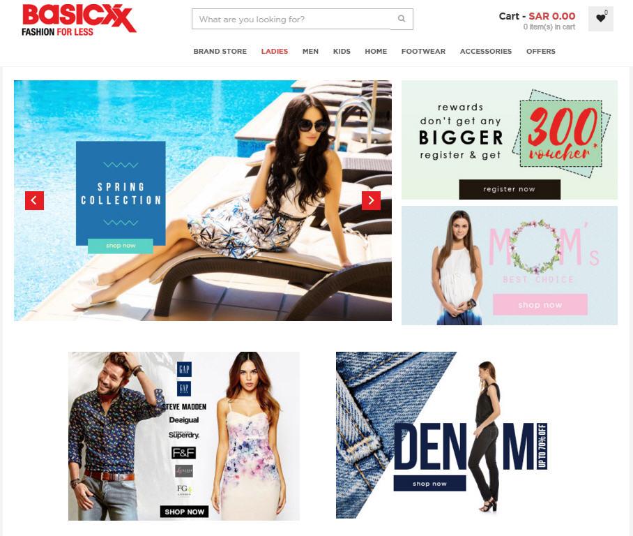Bascixx Fashion Store on Magento Ecommerce Development