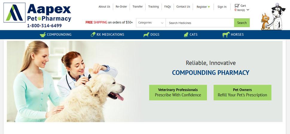 custom wordpress ecommerce development on Aapex Pet Pharmacy
